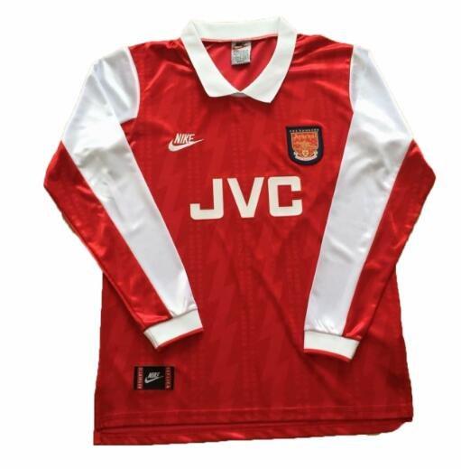 Ретро футболка Арсенал 1994/95 домашняя с длинным рукавом